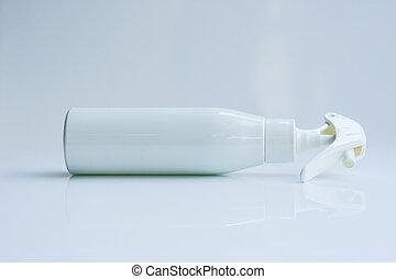 White spray