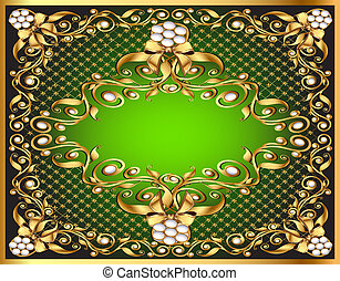 frame  with gold pattern by net