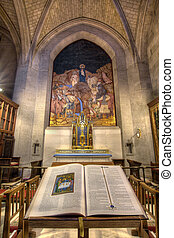 The Bible and the Crucifix at Grace Cathedral