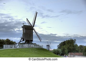 Brugge city in Belgium - beautiful tourism destination in...