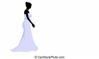 Wedding Bride - Woman in a wedding dress on a white...