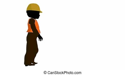 African American Teen Construction