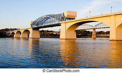 Bridge in Chattanooga, TN - Market Street Bridge, or John...