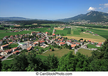 View from Gruyeres castle - Photo of the view of Gruyeres...