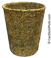 waste basket. felt-tip illustration