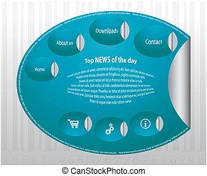 Blue web site design template