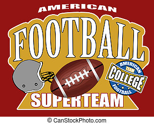 American football poster background, vector illustration