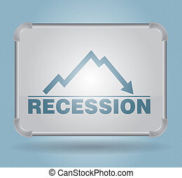 Recession - busines concept