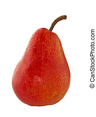 Pear - A red pear isolated over white background