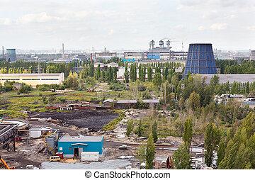 Industrial plant interior