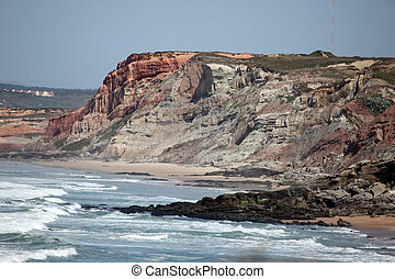 Rugged cliffline Baleal - Rugged coastal cliff at Baleal a...