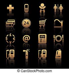 Gas station. Symbols