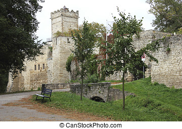 The Eckartsburg castle in Saxony-Anhalt in Germany - The...