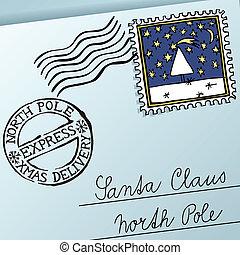 Christmas Letter - Letter for Santa Claus, vector eps8...