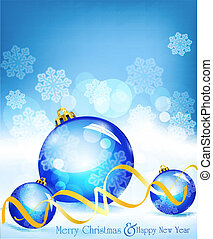 vector holiday blue background with