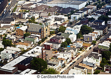 view to Main street of Newark with church when approaching...