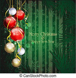 green Christmas festive background