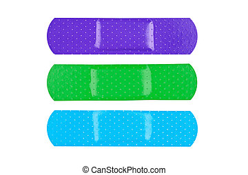 Colorful adhesive bandages
