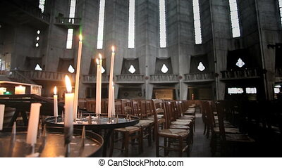 Inside church - Notre-Dame de Royan - Taken with a tripod
