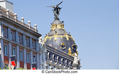 Historic buildings in the city of Madrid, Spain
