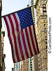 stars and stripes in New York