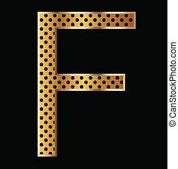 Letter F with tiger style