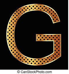 Letter G with tiger style