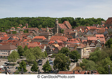 aerial picture of Schwäbisch Hall - aerial picture of a town...