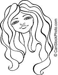 cute cartoon face design