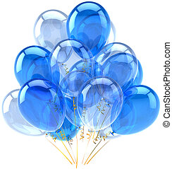 Party blue cyan balloons