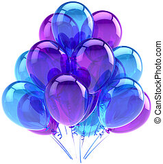 Blue cyan party balloons decoration