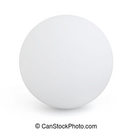 Orb - 3D Illustration of a White Orb