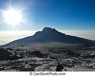 Mount Kilimanjaro, the highest mountain in Africa 5892m,...