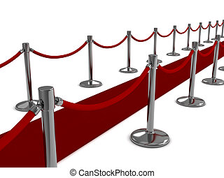 Red Carpet - 3D Illustration of a Red Carpet Scene