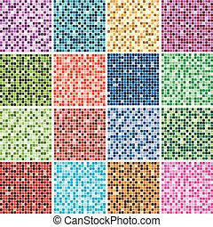 abstract colorful tile backgrounds - vector set of abstract...