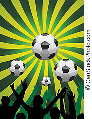 soccer background - vector soccer background with...