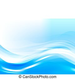 stylized water waves, vector - vector stylized waves, EPS10...