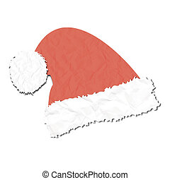 santas cap paper craft