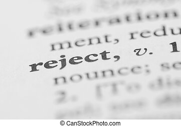 Dictionary Series - Reject