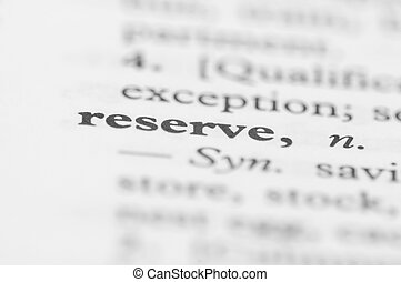 Dictionary Series - Reserve