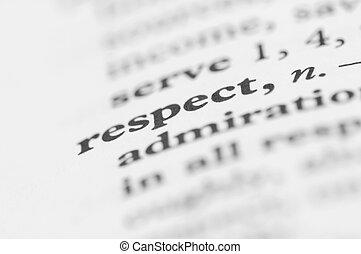 diccionario, serie, -, respeto
