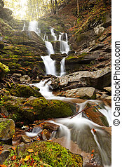Mountain waterfall - Photo of peaceful flowing mountain...