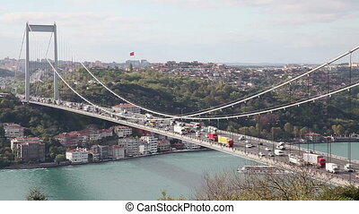 Bosphorus with Bridge Time Lapse 2 - Bosphorus with Traffic...
