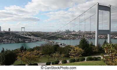 Bosphorus with Bridge - Bosphorus with Traffic on the...
