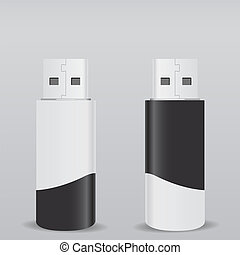 USB Flash Drive - Vector USB Flash Drive