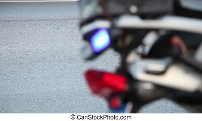 emergency lights 2 - police motorbike and emergency lights,...