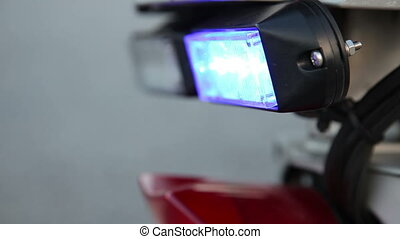 emergency lights - police motorbike and emergency lights,...