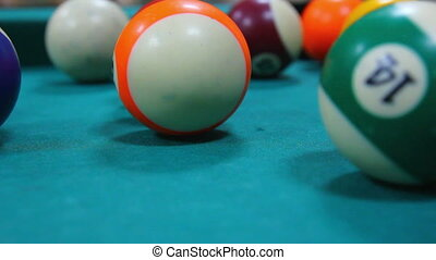 billiard game close-up