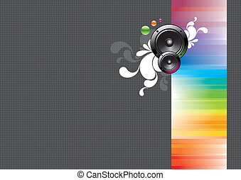 Vector abstract background with loudspeakers