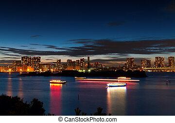 Tokyo Bay at Sunset